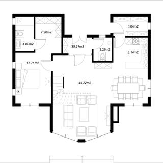 Разпределние 1 етаж