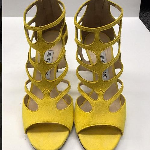Jimmy Choo Pop Yellow Heel Size 37