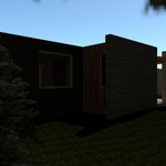 NORTH FACING ELEVATION (KITCHEN + WC WIN