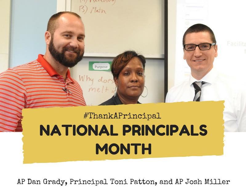 EPIC Instructional Leaders: AP Dan Grady, Principal Toni Patton, AP Josh Miller (left to right)