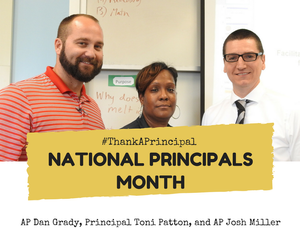 EPIC Instructional Leaders: AP Dan Grady, Principal Toni Patton, AP Josh Miller (left to right)