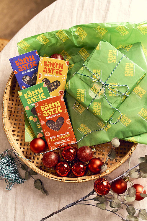 Earthastic Organics - Milk & Dark chocolade Giftset | 100% ORGANIC & SUSTAINABLE