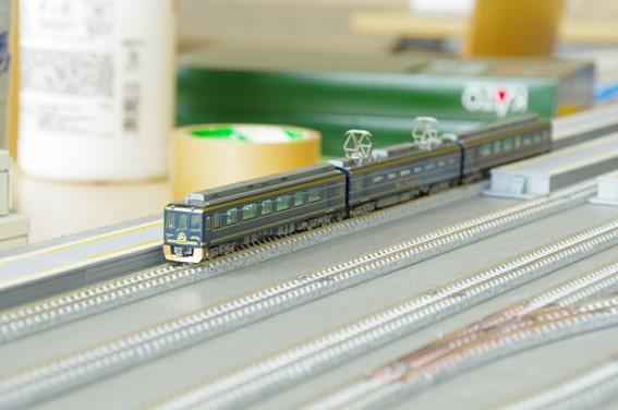 鉄道研究会で走行展示されていた模型。関東地方の車両を中心に国内車両や英国、独国の車両まで、多種多様な鉄道模型が展示されていた。