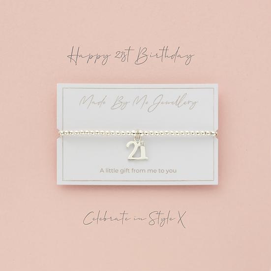 21st Birthday Bracelet