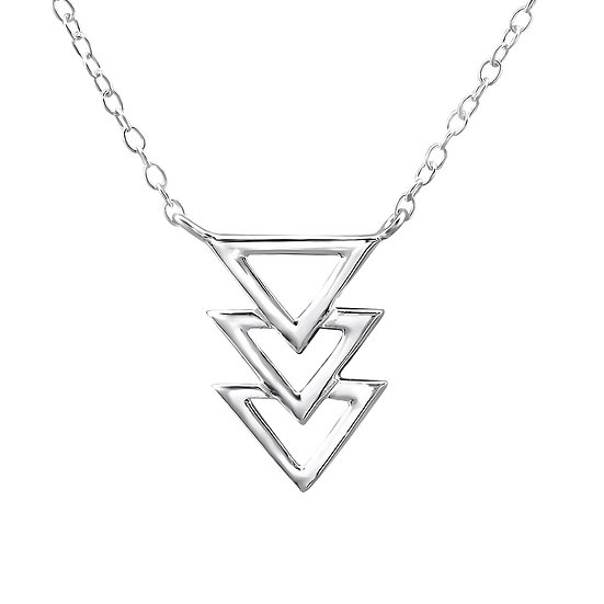 Tripple Triangle Necklace