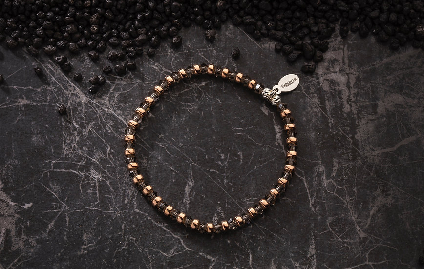 ◆ Black Diamond / Rose Gold Bracelet ◆