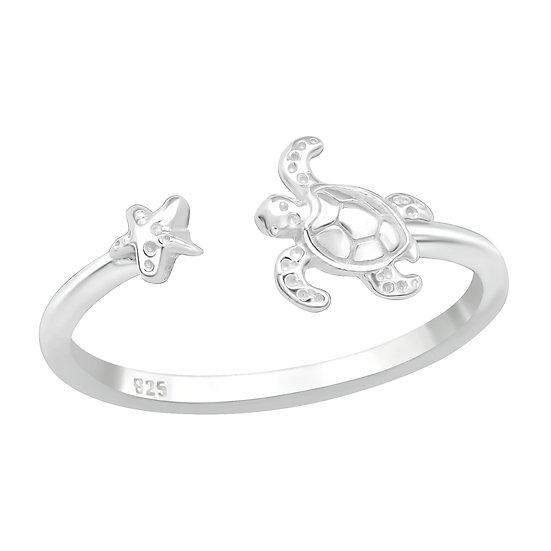 Star & Turtle Ring