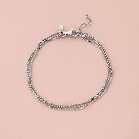 3 Row Diamond Cut Bracelet