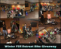 Winter PSR Retreat Bike Giveaway Collage