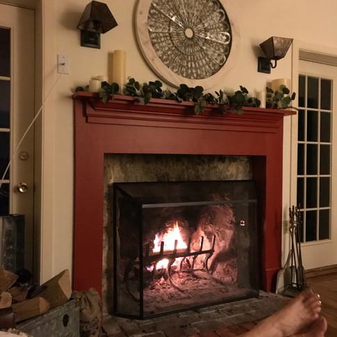 The fireplace rocks