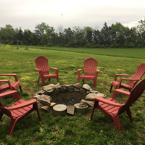 Enjoy our fire pit.