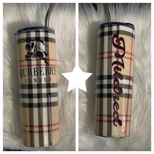 Designer Inspired Tumblers-Burberry