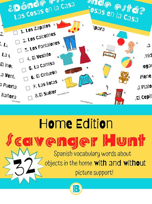 Spanish Home Scavenger Hunt
