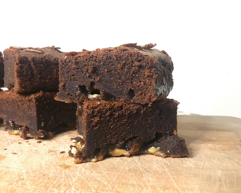 Brownie Slices With White Chocolate