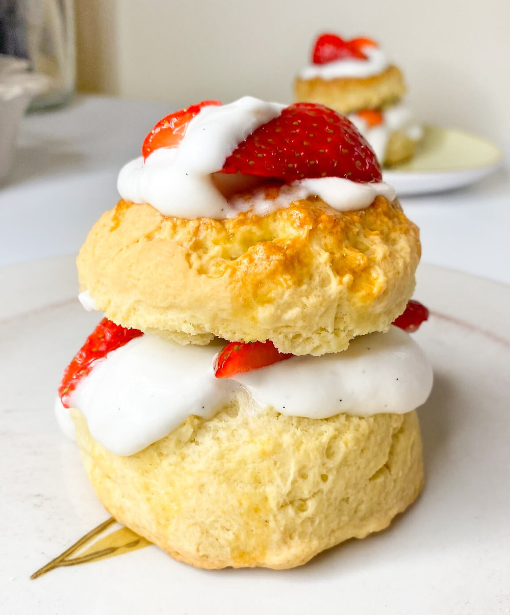 Strawberry shortacke with whipped cream
