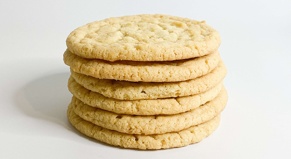 Sugar cookies over white background