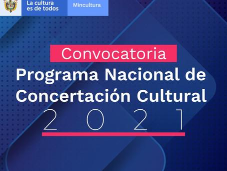 Convocatoria del Programa Nacional de Concertación Cultural 2022