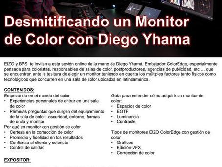 WEBINAR EIZO: DESMITIFICANDO UN MONITOR DE COLOR CON DIEGO YHAMA