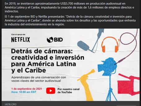 Detrás de la cámara: creatividad e inversión para América Latina y el Caribe