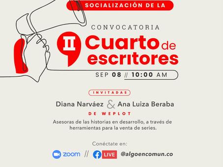 AVC invita a la socialización de la Convocatoria II Cuarto de escritores.