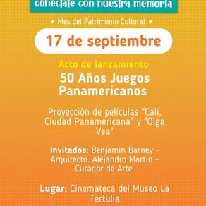 Acto de lanzamiento: 50 Años Juegos Panamericanos: Patrimonio, Cine y Ciudad.