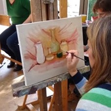 Our first painting class!