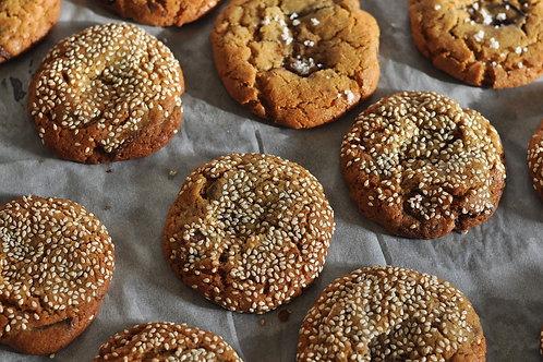 Cookies sésame/chocolat au lait (x2)