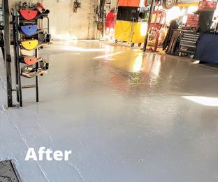 Epoxy Commercial Shop Floor