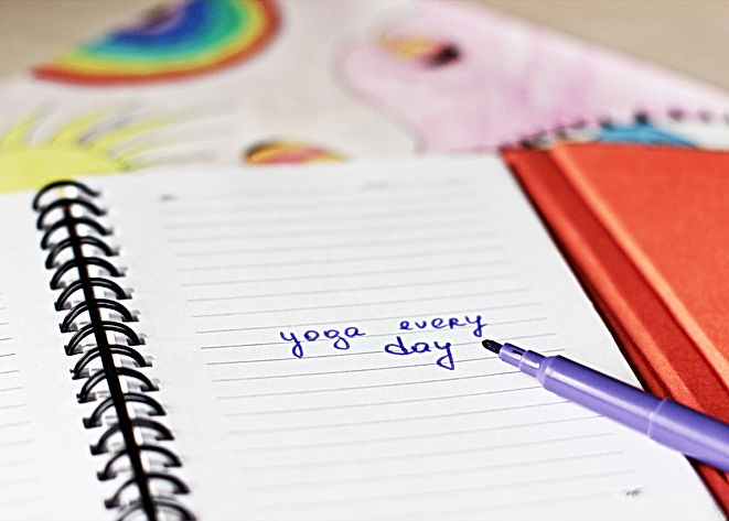 Yoga every day, New day or Make notes ba