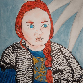 Dibujo de Sansa Stark (Game of Thrones)