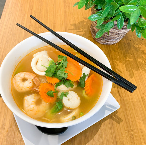 Tom Yum Noodle Soup (Seafood)
