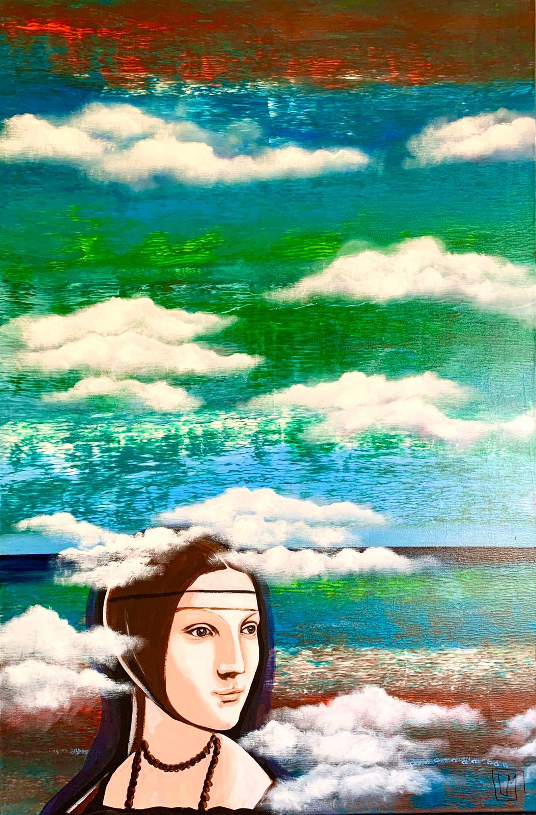 """Woman. Water. Art"" 1 part of diptych / ""Женщина. Вода. Арт"" 1 часть диптиха"
