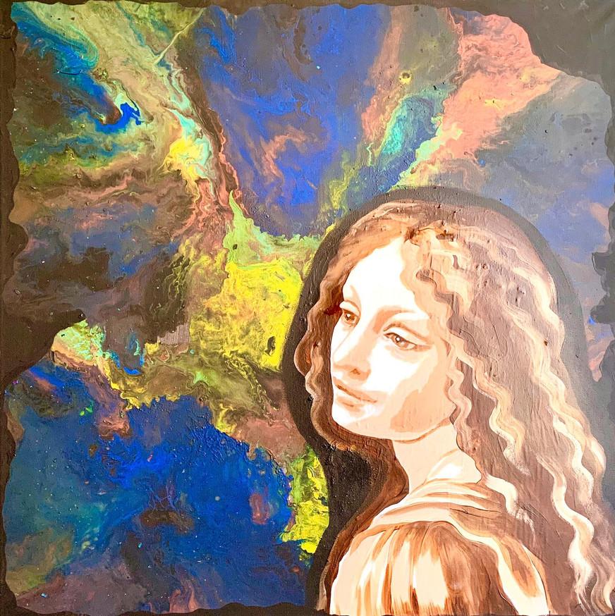 Size: 80 х 80 cm Размер: 80 х 80 см  Canvas, mixed technique Холст, смешанная техника
