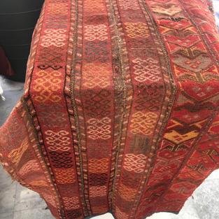 «Казахский коврик, собранный из бау» 1930-40гг. Северо-запад Казахстана