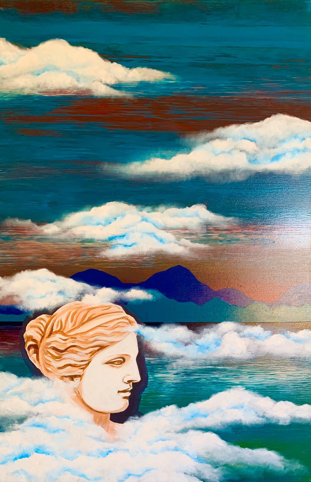 """Woman. Water. Mountains. Venus"" 1 part of diptych / ""Женщина. Вода. Горы. Венера"" 1 часть диптиха"