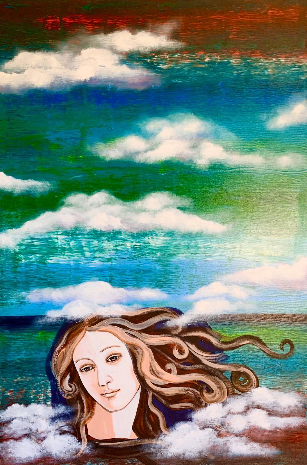 """Woman. Water. Art"" 2 part of diptych / ""Женщина. Вода. Арт"" 2 часть диптиха"