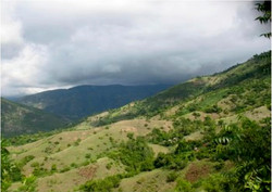 Eroded Mountainside near Kasis