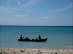 Local fishermen at Port Salut