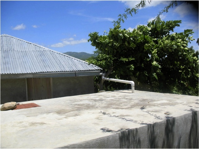 Cistern Catching Rainfall