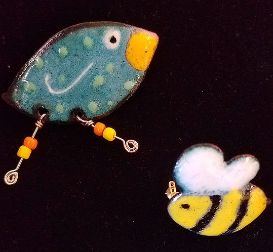 Birds, Bugs and Blooms! Copper Enameling 3/28