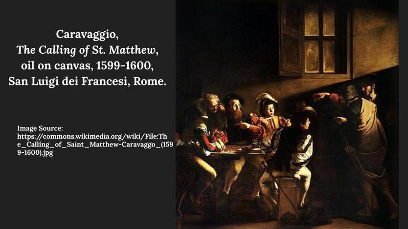 Caravaggio, The Calling of St. Matthew.j
