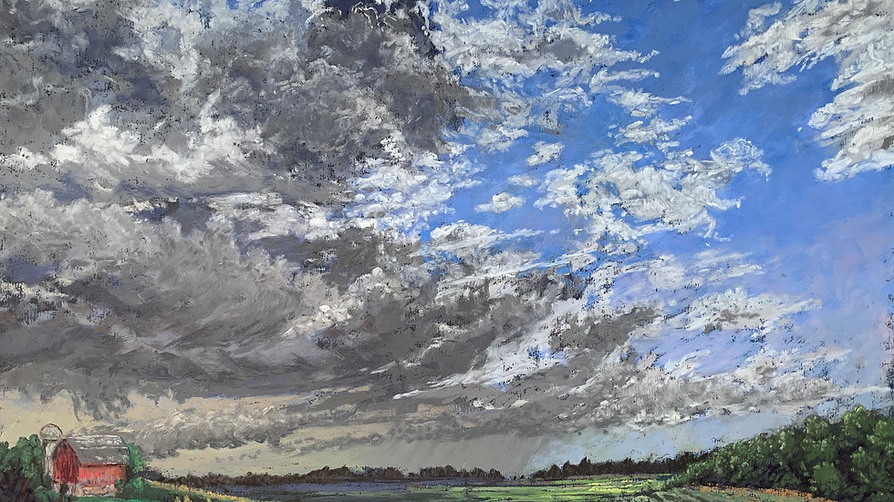 Hybrid: In-Person or Virtual Painting Clouds with Chris Behrs-3/20 & 3/21