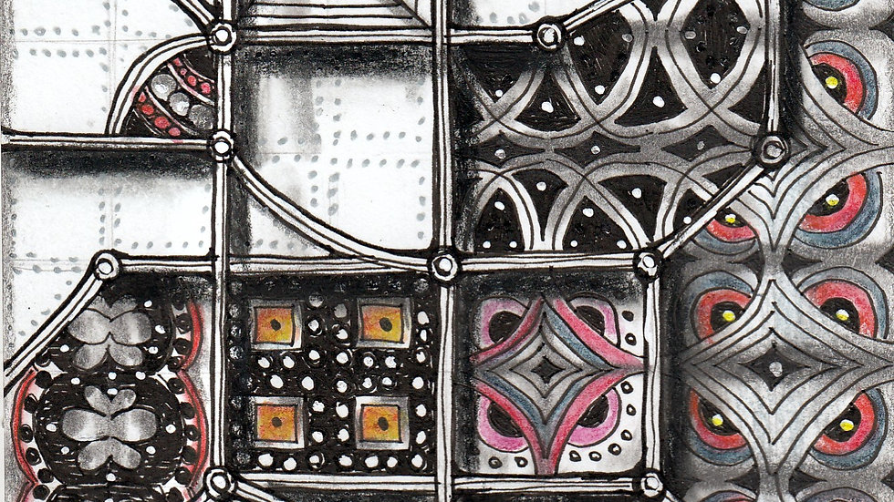 Zentangle Fragmented Windows with Mary Boettcher  1/9