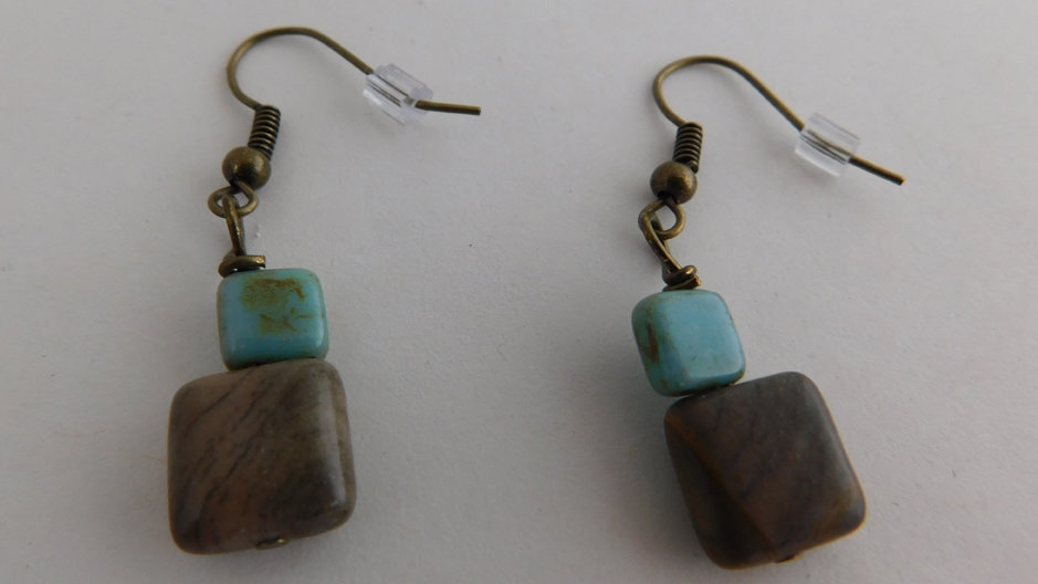 Arizona Jasper Bead Earrings