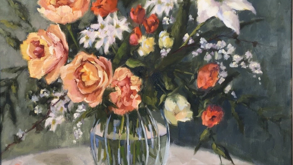 Painting Flowers in Crystal with Deb Rolfs