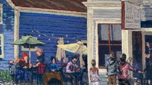 Cool Night on the Patio - Stilt House, Cedarburg, WI