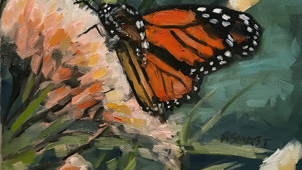 Butterflies Painting Workshop on the Terrace with Michelle Savas Thompson   9/17
