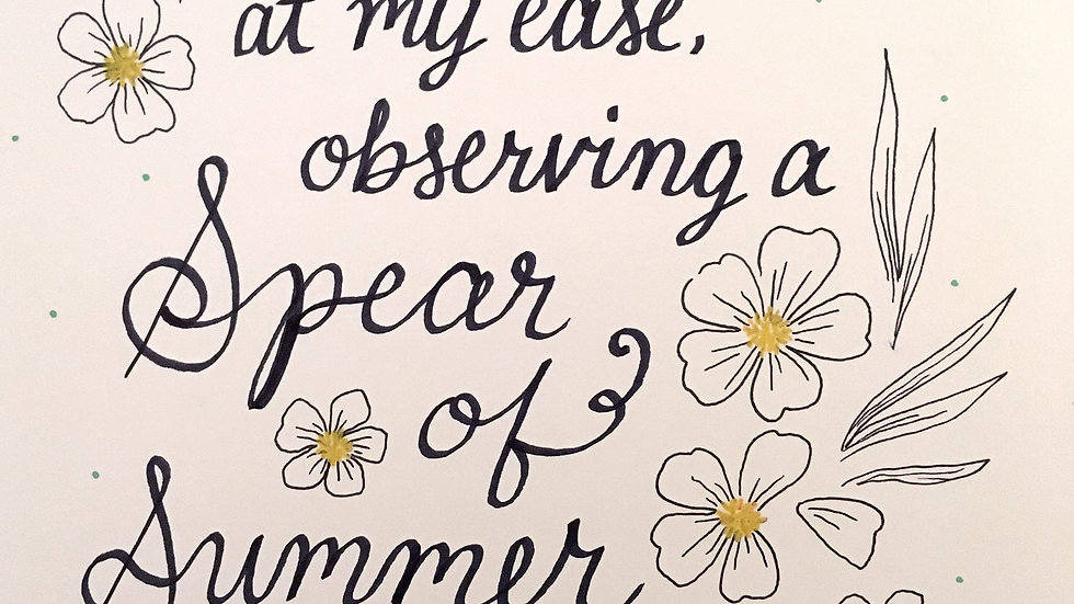 Calligraphy: Part 1   2/11