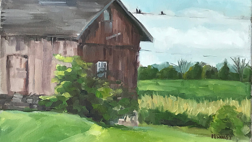 Hybrid: In-Person or Virtual: The Old Barn Acrylic Painting- 4/8