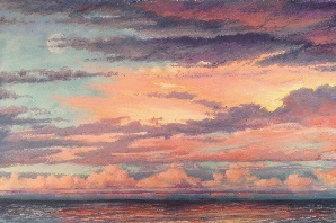 Layered Sunset - Lake Michigan at CUW